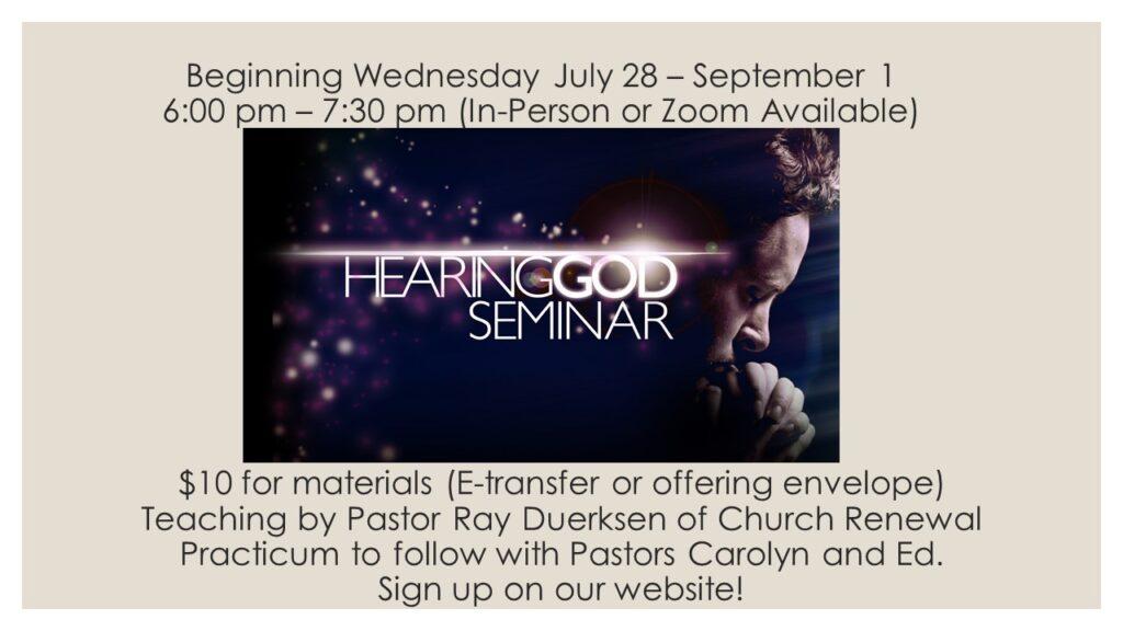 Hearing God Seminar (1)